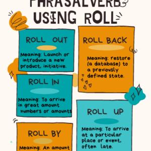 5 Business Phrasal Verbs using Roll
